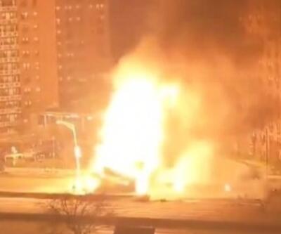 New York'ta büyük yangın... Art arda patlamalar yaşandı | Video