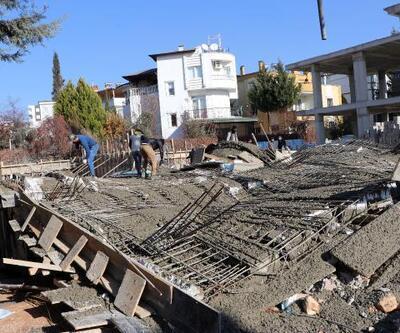 Gaziantep'te çöken inşaatta göçük: 2 işçi yaralandı