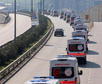 Hatay'a 38 yeni ambulans tahsis edildi