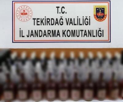 Malkara'da 110 şişe kaçak içki ele geçirildi