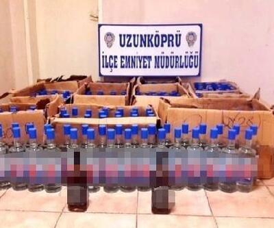 Edirne'de 336 şişe kaçak içki ele geçti