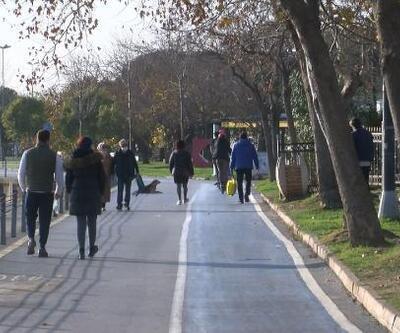 Sokak kısıtlamasında Caddebostan sahiline akın ettiler