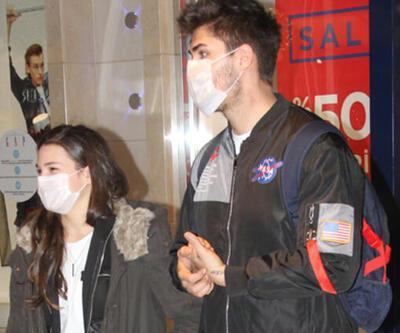 Barış Murat Yağcı ve Nisa Bölükbaşı el ele alışverişte