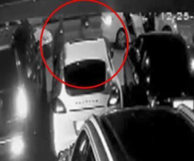 Lüks otomobilin farlarını 10 saniyede çaldılar | Video
