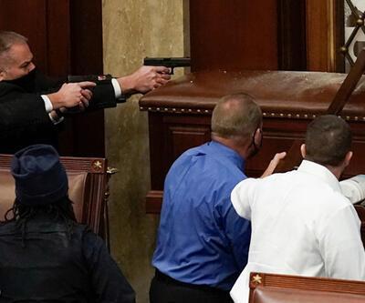 ABD Kongresi'ndeki olaylarda bir kişi öldü   Video