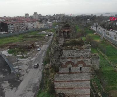 Tarihi Surların burçları günden güne yok oluyor   Video