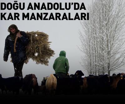 Doğu Anadolu Bölgesi'nden kar manzaraları
