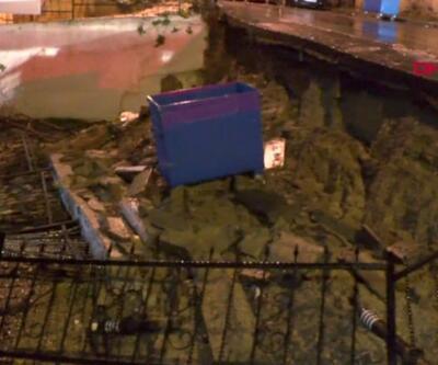 Üsküdar'da istinat duvarı çöktü | Video