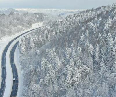 Batı Karadeniz'den hayranlık uyandıran kar manzaraları