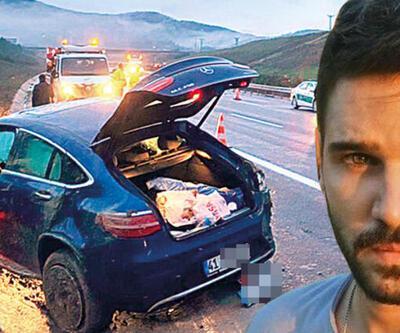 Tolgahan Sayışman ölümden döndü! Arabası takla attı