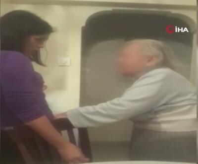 Yaşlı kadına bakıcı eziyeti   Video