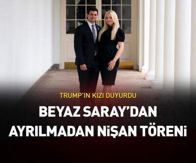 Beyaz Saray'daki son gününde nişanlandı