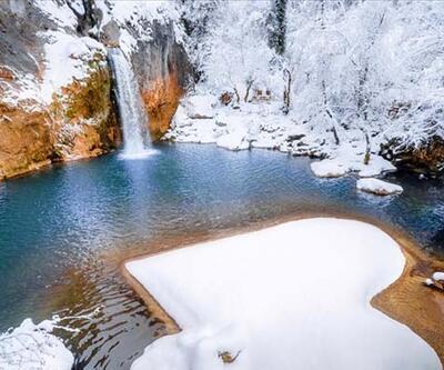 Kar altında doyumsuz manzaralar sunuyor