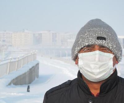 Ağrı buz kesti:  Eksi 32.7 derece