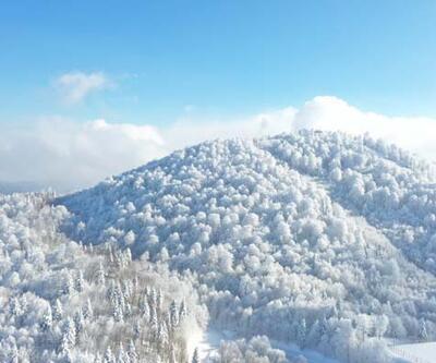 Kar yağışı sonrası eşsiz manzara! Kartpostallık görüntülerin oluştuğu Kartepe havadan görüntülendi