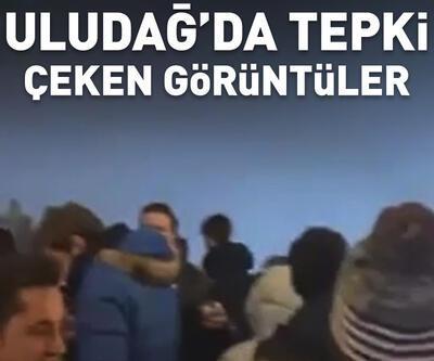 Uludağ'da maskesiz mesafesiz parti görüntüleri tepki çekti
