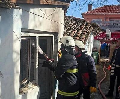 Babaeski'de yangın çıkan evde hasar meydana geldi
