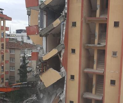 Yıkımına başlanan bina yarım bırakıldı, vatandaşlar tepki gösterdi