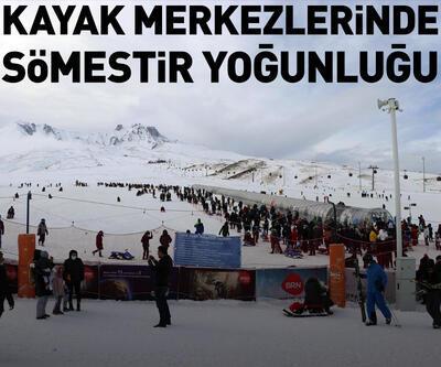 Kayak merkezlerinde sömestir tatili yoğunluğu