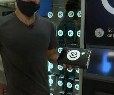 Koronavirüs testi satan makine