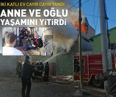 Konya'da yangın! Anne ve oğlu yaşamını yitirdi