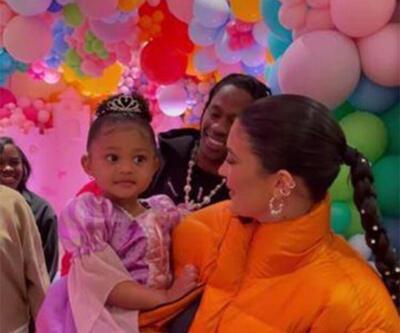 Kylie Jenner'ın kızı Stormi üç yaşına bastı!  Evde gösterişli bir parti verdi
