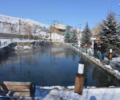 Erzurum'daki Balıklıgöl -30 derecede bile donmuyor
