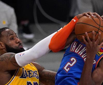 NBA'de Lakers Thunder'ı uzatmada yendi