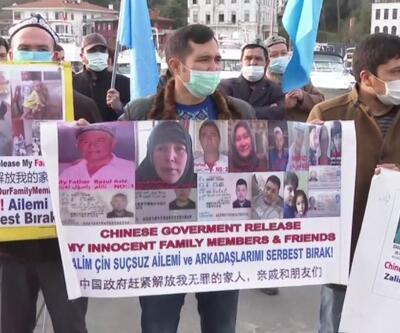 Doğu Türkistanlılar eylem yaptı