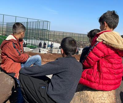 Bakan Kasapoğlu'nun köylülere verdiği tenis kortu sözü gerçekleştirildi