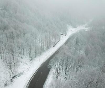 Kartepe'de büyüleyen kar manzarası