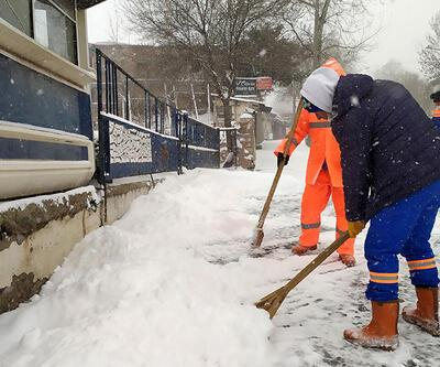 Edirne'de kar kalınlığı 10 cm