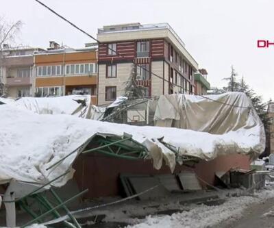 Spor salonunun çatısı çöktü