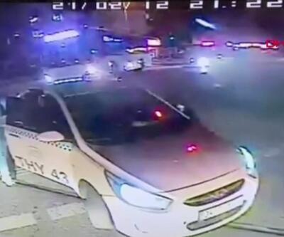 Taksici ve yanındakiler otobüs şoförüne saldırdı