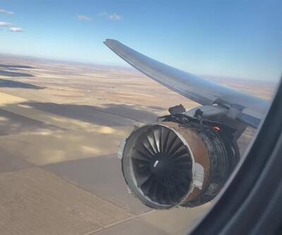 İçinde 322 kişinin bulunduğu uçağın motoru alev aldı