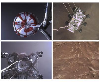 NASA, Perseverance'ın Mars'a iniş anını yayınladı