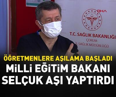 Milli Eğitim Bakanı Selçuk aşı yaptırdı