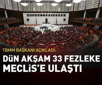 33 fezleke Meclis'e ulaştı