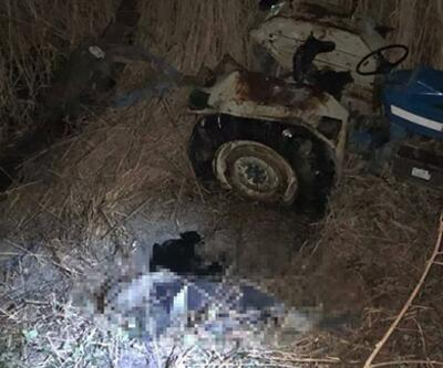Acı son: Devrilen traktörün altında kalarak öldü