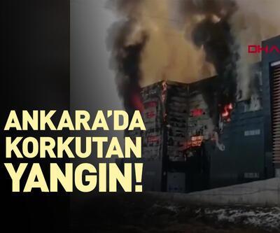 Ankara'da iş yeri deposunda yangın