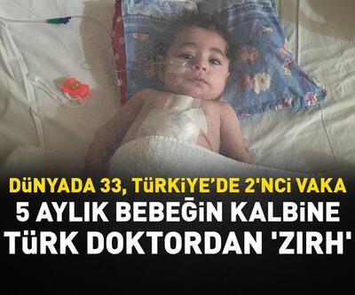 5 aylık bebeğin kalbine Türk doktordan 'zırh'