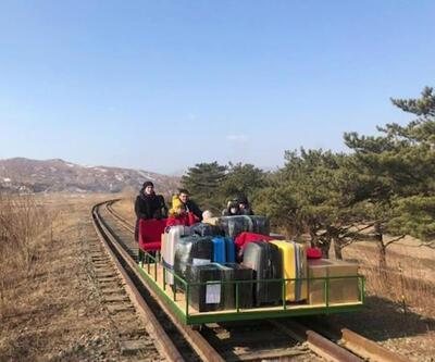 Kuzey Kore'den drezinle döndüler