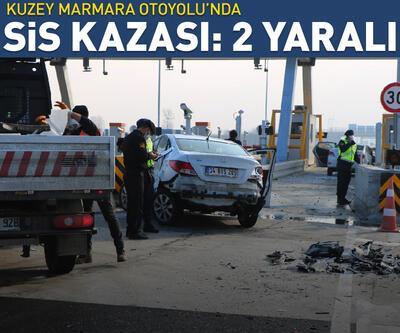 Kuzey Marmara Otoyolu'nda yoğun sis nedeniyle kaza: 2 yaralı