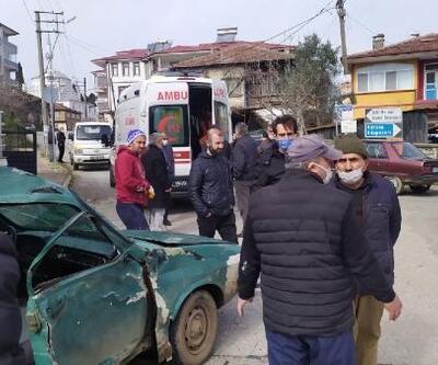 Otomobil ile beton mikseri çarpıştı: 3 yaralı