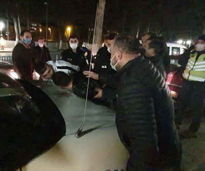 Polisin 'dur' ihtarına uymayan 2 kardeş kovalamacayla yakalandı
