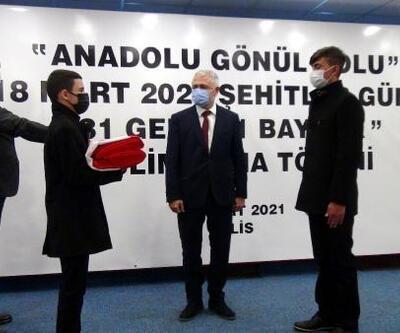 Türk bayrağı Kilis'ten Çanakkale'ye uğurlandı
