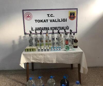 Erbaa'da kaçak içki operasyonu