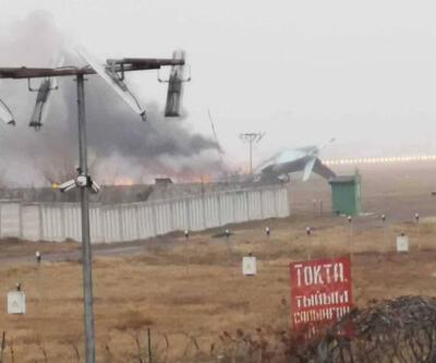 Son dakika... Kazakistan'da askeri uçak düştü: 4 ölü, 2 yaralı