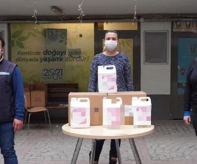 Lüleburgaz'da kahveci esnafına dezenfaktan desteği
