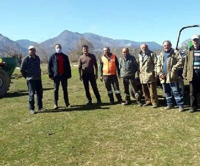 Simav'da meralar gübreleniyor